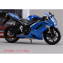 Kawasaki ZX-6R Metal Kit Diecast Motorbike Model Maisto Assembly Toys  1:12 Scale Model Motorcycle Free shipping
