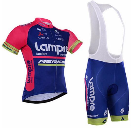 Pro Lampre Merida Maillot Cycling Jersey men Sets/2017 Ropa Ciclismo Mujer Bicycle Summer Cycling Clothing Bike Clothes