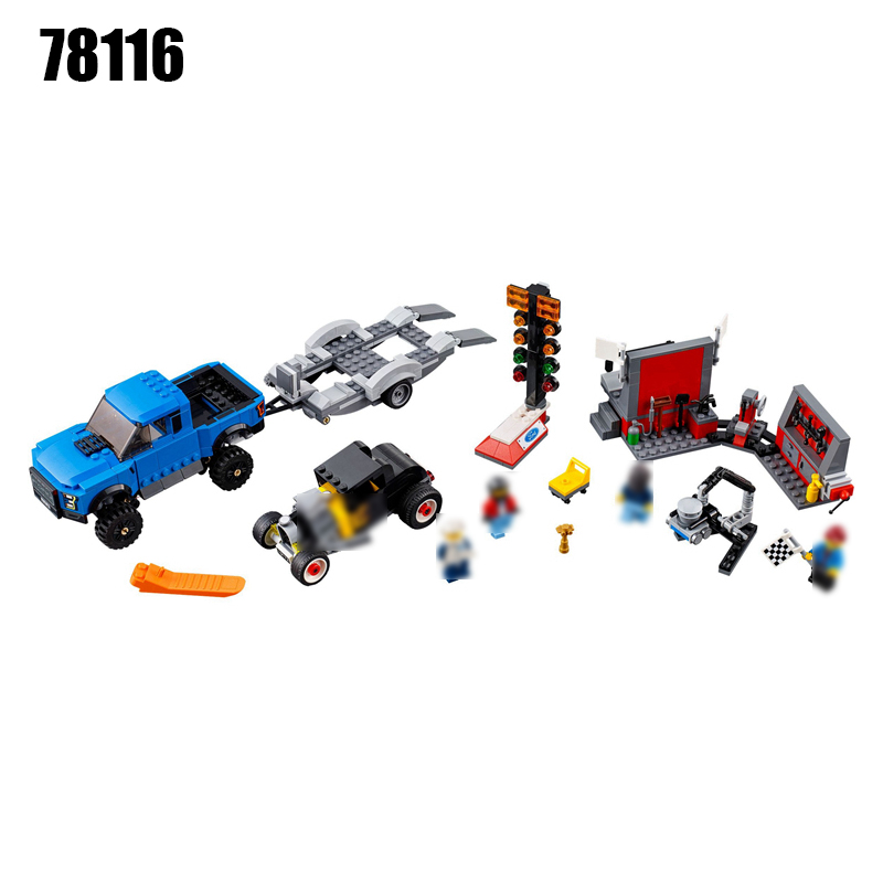 DECOOL 78116 674pcs Technic F-150 Super Speed Racing Car Racetrack Building Block Brick Toys for Children<br>