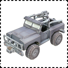 PS3 Games Hawk Chernovan 4x4 military jeep Paper models DIY handmade paper art Finished length 13cm(China)