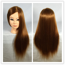 "26"" Training Mannequin Head for Hairdressers Head Dolls Hairstyles Head Model Wigs Professional Styling Head for Wigs Female"