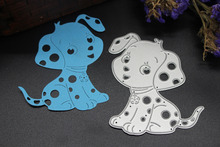 Cute Dog Embossing Metal Cutting Dies Stencils For Scrapbooking Album Paper Cards Craft(China)