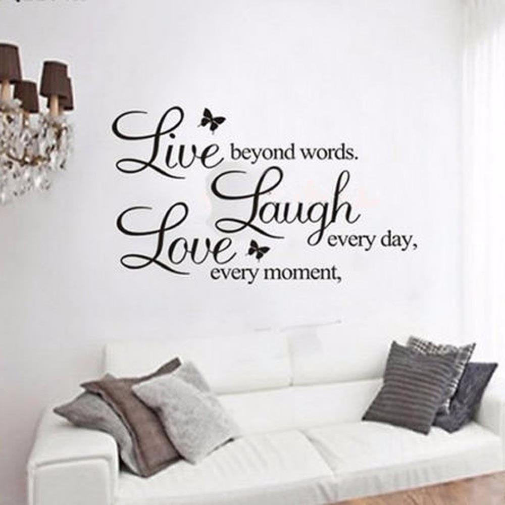 HTB1xd5vgAomBKNjSZFqq6xtqVXay - LIVE LAUGH LOVE Quote Vinyl Wall Sticker-Free Shipping