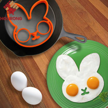 1pcs egg little white rabbit egg shaper silicone moulds egg ring silicone mold cooking tools(China)
