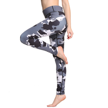 2017 Sexy Women Yoga Pants High Waist Sports Leggings Sports Stretched Gym Trousers Camouflage Running Tights Fitness Leggings(China)
