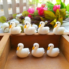 Kawaii Little swan duck wedding decoration Bonsai miniature fairy garden ornaments resin craft animals statue toys home decor(China)