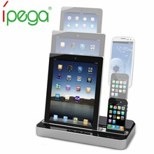 iPega Pg-ip115 Multifunctional Charger Speaker Docking Station For iPhone 4/5/7 For IPAD 2/3/4/MINI For Samsung Galaxy S2/S3(China)