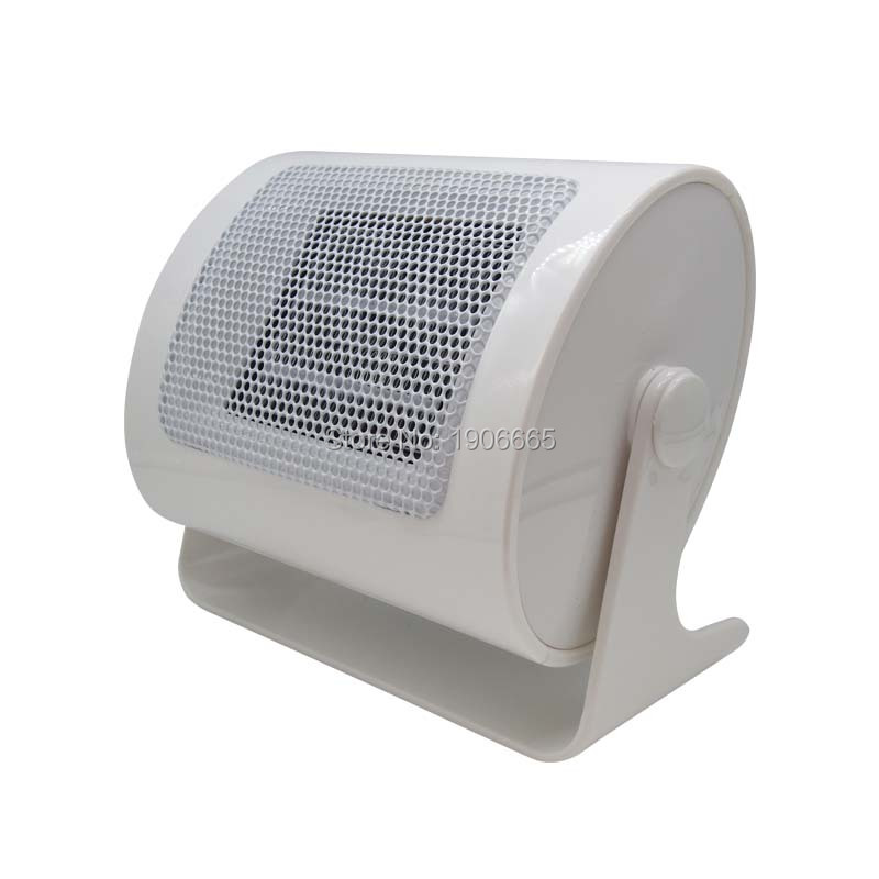 White Mini fan electric heater for study room Portable ceramic PTC Rapid heating Overheating Automatic Ceramic heater 220V 500W<br><br>Aliexpress