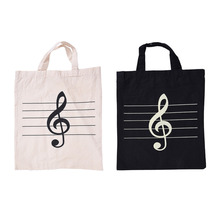 Portable Cotton And Linen Music Score Bag Treble Symbol Pattern Musical Bags Musical Instruments Appliance Bag Musical Bags