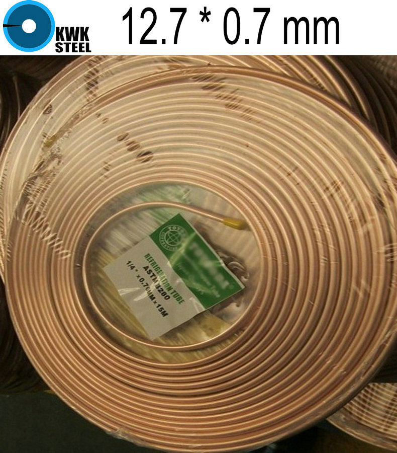 Copper Coiled Tube Size 12.7*0.7mm Soft Condition Air Condition Ferigerator Tube R410A<br><br>Aliexpress