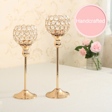 Crystal Candlestick Candle Holder for Wedding Centerpieces Decoration