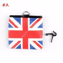 Car Wind Outlet Storage Bag Hook Up Pouch For BMW Mini Cooper Synthetic Leather 1Pcs 13*12cm High Quality