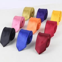 Men Fashion Neckties Formal Tie Solid Pure Classical Color Plain Necktie Skinny Small Ties Designer Cravat(China)