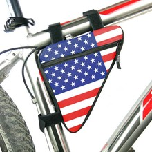 Buy American Flag Waterproof Triangle Cycling Bicycle Bags Front Tube Frame Bag Mountain Triangle Bike Pouch Holder Saddle Bag for $2.61 in AliExpress store