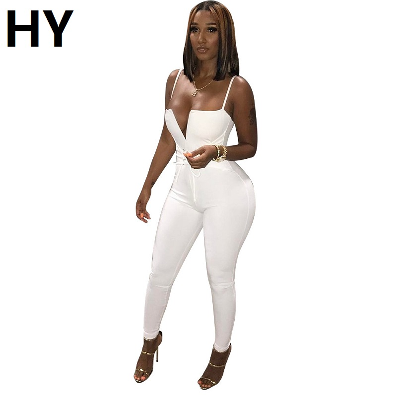 New White  Off Shoulder Bodycon Jumpsuits Romper Sexy Strapless Full Length Summer Jumpsuit Long Fashion Monochrome Print Black
