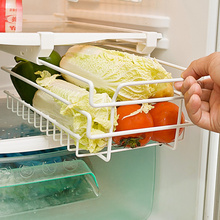 Kitchen Fridge Storage Rack Holder Shelf Basket Refrigerator Freezer Space Saver Fresh Food Partition Pull-Out Drawer Organizer