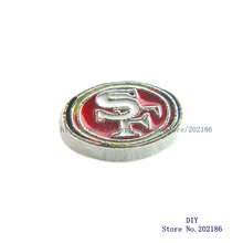 Wholesale 10pcs San Francisco 49ers floating locket charm Fit floating  locket FC1197