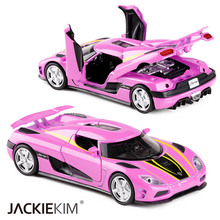 1:32 Koenigsegg AGERA Alloy Car Model Sports Car With Pull Back Light Sound the Fast and the Furious For Kids Toy Free Shipping(China)