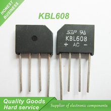 10PCS free shipping KBL608 bridge rectifier 6A 800V 100% new original quality assurance