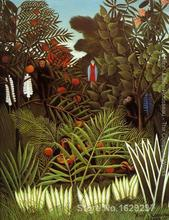 modern colorful paintings Exotic Landscape II by Henri Rousseau High Quality Hand painted(China)