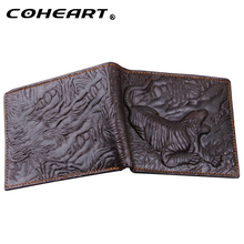Wallet Leather Men Tiger Pattern Top Quality Purses of Natural Skin Cool Fashion Money Bag Small Bifold Design Card Holders