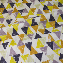 50cm*110cm Japanese Patchwork Soft Textured Cotton Fabrics Barkcloth Fabric for sewing Triangles A(China)