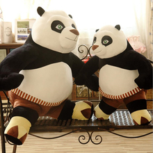 high quality Animal Doll Kung Fu Panda Plush toys pillow High simulation Children accompanied by Cute panda available