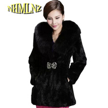 European Style Winter New Fashion Women Fur Coat Sweet Elegant Slim Fur Coat Women Big yards Slim Warm Imitation Fur Coat G1989(China)
