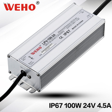 (LPV-100-24)WEHO new design small size led driver 24VDC 4.5A 100W waterproof 100w switching power supply(China)
