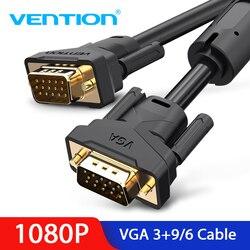 Vention 1080P VGA кабель штекер-папа VGA Цифровой видеокабель 8 м 5 м 3 м 3 м 2 м 1 м кабель для HDTV проектор монитор компьютера