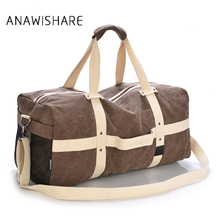ANAWISHARE Men Travel Bags Large Capacity Women Luggage Travel Duffle Bags Canvas Travel Handbags For Trip Folding Bags(China)