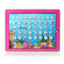 English Spanish Learning Machine Kid Laptop Computer with LED Music Alphabet English Learning Educational Toys Computer for Kid(China)