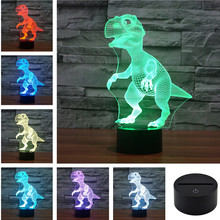 Animal World USB Acrylic Colorful Dinosaur Nightlight Household Bedroom Office LED Table Lamp Child Christmas Gift 3D-TD114+120
