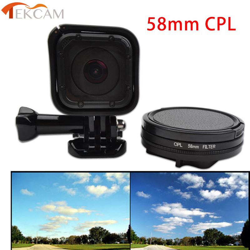 Camera Accessories 58mm 10X Close-Up Lens Macro Lens Filter for GoPro HERO5 Session //HERO4 Session//Hero Session Lens Accessories