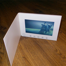 7inch Screen Brochure Universal Video Greeting Cards Fashion Design Video Advertising Cards watching booklet with 2gb to 8gb(China)