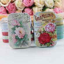 4Piece/Lot Big Size Tin Box For Cookies Tea box Beauty Flower Print Mac Cosmetics Organizer Metal Jewelry Candy Case