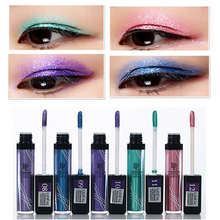 12 Colors Bright Flashing Eye Liner Quick To Dry Waterproof Glitter Eyeshadow Liquid Eyeliner Beauty Makeup(China)
