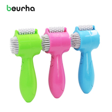 Beurha 4 in 1 USB MINI Massager.Electric Vibrating Roller Wheel Tooth Comb Massage.Body Back Neck Waist Hand Foot Face Massager(China)