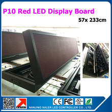 high quality waterproof outdoor moving text led display sign 57x233cm programmable red color led sign