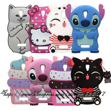 For Lenovo A2010 Case 3D Silicone Stitch KT Cupcake Cartoon Style Soft Phone Back Skin Case Cover for Lenovo A 2010(China)