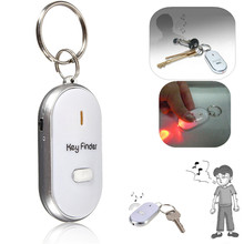 NEW  Anti-Lost Finder Sensor Alarm Whistle Key Finder LED With 2 AG3 Batteries Safely Security Free Shipping