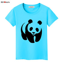 BGtomato lovely Panda art printing T-shirts for women Friendly cute summer cool shirts Original brand Clothes casual tees