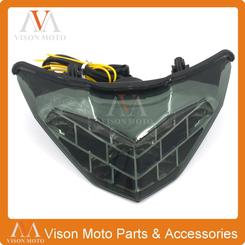 Motorcycle Rear Tail Light Brake Signals Led Integrated Lamp Smoke Light For NINJA300 NINJA 300 300R NINJA300R 13 14 15 16<br>