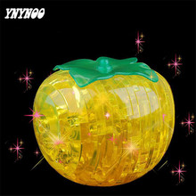 YNYNOO New 3D Puzzle DIY Crystal Bright Persimmon 3D Crystal Puzzles Assembled DIY model birthday gift Decorations toys For kids