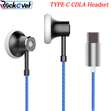 Rockever TYPE-C CDLA Earphone,Digital HIFI Noise Cancel Natural Sound With Mic/Volume control for xiaomi 6/Moto z force/HTC/SONY(China)