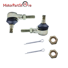 M10 Left and Right Tie Rod End Set with Nuts and Pins for ATV Quad Go Kart 150cc 250cc Kinroad Runmaster SUNL Roketa Buggy Bike