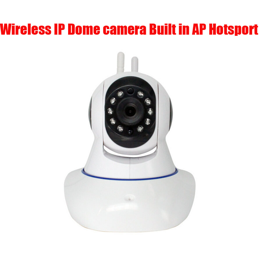 Free Shipping Dual antenna WIFI hotspot P2P 720P ip camera wifi HD Megapixel Wireless/WiFi IR/IP Dome Camera w/ Motion Detection<br><br>Aliexpress