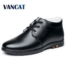 VANCAT 2017 New Winter Men Shoes Fashion Casual Men Winter Boots Cheap Men Leather Boots Snow Ankle Male Boots Brand Snow Shoes