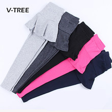 V-TREE Girls Leggings Clothing Cotton Candy Color Pant Skirt For Girl Kids Teenage Trousers Pant Childrens Clothes 3-10 Year(China)