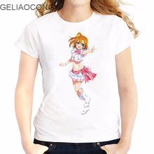 GELIAOCONG 2017 Japanese Loli LOVELIVE! Team T-shirt Shirt Large Size Slim Figure Fashion Summer Comfortable Plus Music Comic(China)
